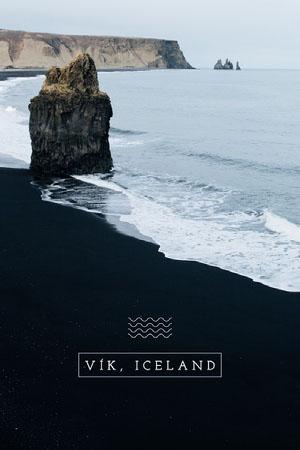 vik Iceland postcard Urlaubspostkarte