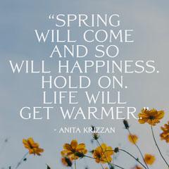 Instagram Square Spring Quote Spring