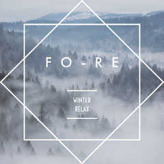 Pale Blue Geometric Forest in Fog Album Cover Forest