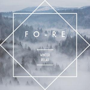 Pale Blue Geometric Forest in Fog Album Cover Capa de álbum