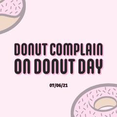 Pink Donut Day Instagram Square Donut
