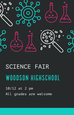 Black and Green Science Fair Poster Welcome Poster