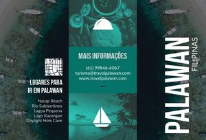 places to go in Palawan travel brochures  Folheto dobrável