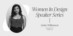 Black and White Modern Elegant Women in Graphic Design Event Speaker Youtube Thumbnail Speaker
