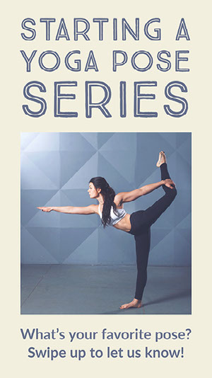 Blue and Beige Modern Yoga Series Instagram Story Yoga Posters
