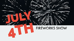 Red, White and Black Fourth of July Fireworks Show Facebook Banner 4th of July