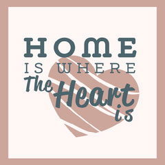 Pink & Navy Text Home Quote Instagram Square Family