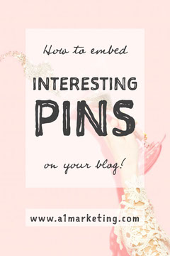 Pink How To Embed Pins On Your Blog Pinterest Post Marketing