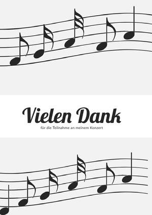 music recital thank you cards Danksagungskarte