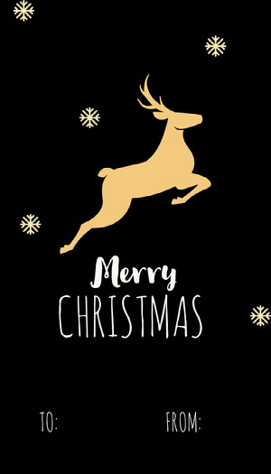Black, Yellow and White, Merry Christmas, Gift Card Christmas Card