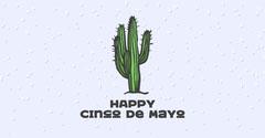 Happy Cinco De Mayo Facebook Cactus