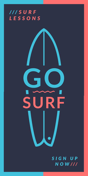 GO SURF Advertisement Flyer