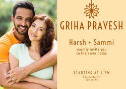 collage griha pravesh invitation  Housewarming Invitation