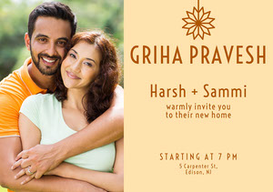 collage griha pravesh invitation  Griha Pravesh Invitation