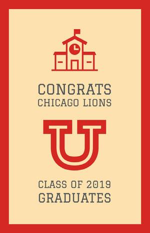 CONGRATS <BR>CHICAGO LIONS Graduation Poster
