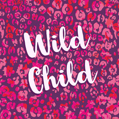 Pink and Purple Wild Child Square Instagram Graphic Purple
