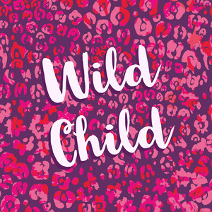 Pink and Purple Wild Child Square Instagram Graphic Meme