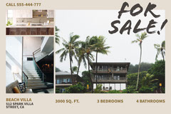 Light Toned Open House Real Estate Ad Facebook Banner House For Sale Flyer