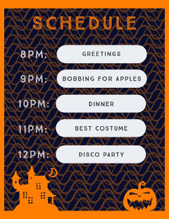 Halloween Haunted Party Schedule Halloween Party Schedule