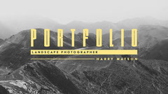 Black and Yellow Landscape Photographer Portfolio Cover Photography