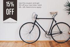 Black and Grey Shop Sale Flyer Bike
