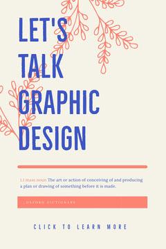 LET'S<BR>TALK<BR>GRAPHIC<BR>DESIGN Pinterest