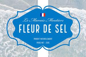 Blue Fleur de Sel Product Label Landscape  Étiquette