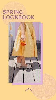Yellow & Purple Spring Lookbook Instagram Story  Spring