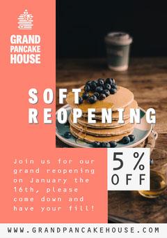 Grand Pancake House A5 Flyer Sale Flyer