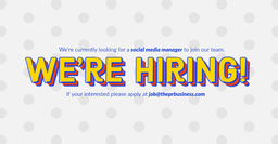Red Blue White Polka Dots We're Hiring Facebook Post