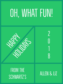 Green and White Happy Holidays Card jeff-test-5