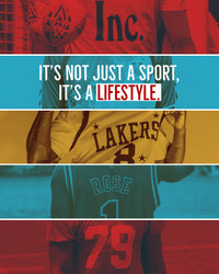 Red Blue and Yellow Basketball Instagram Portrait Graphic with Collage Basketball