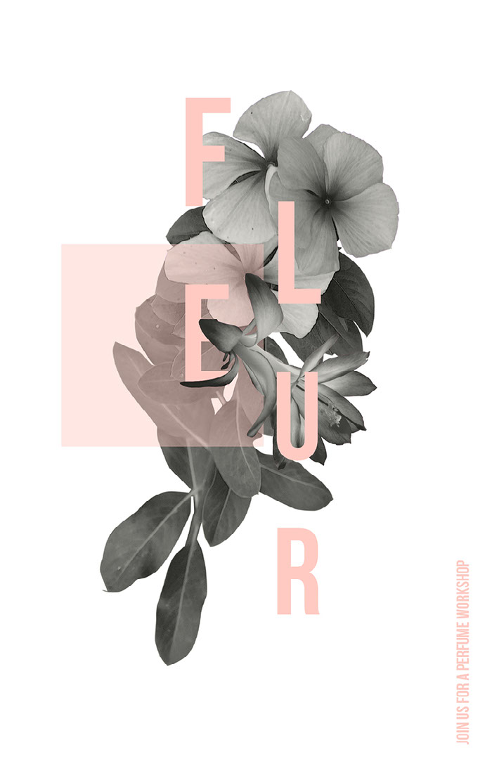 Pink, Grey and White Perfume Workshop Ad Poster Idées d'affiche