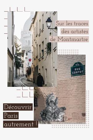Brown Montmartre Streets Instagram Story  Flyer publicitaire
