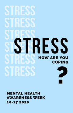 Light Blue Mental Health Awareness Week Campaign Poster Awareness