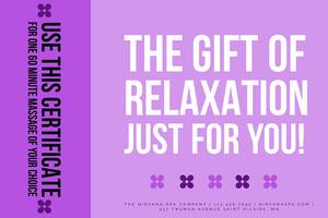 Bold Purple Massage Gift Certificate Massage Gift Certificate