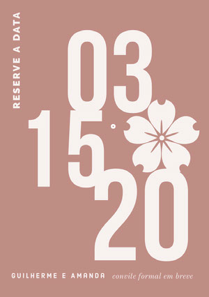 modern save the date card  Convites
