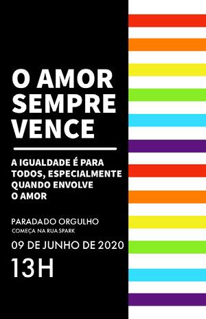 pride parade event poster  Pôster de evento