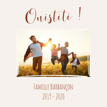 Red and Beige Sunset Family Photo Book Cover   Couverture de livre