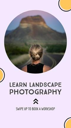 Purple Landscape Photography Course Instagram Story Landscape