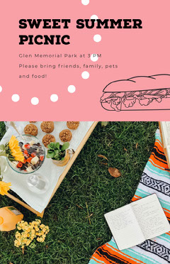Sweet Summer Picnic Memorial Day Flyer