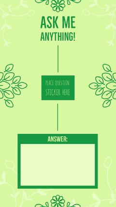 Green Ask Me Anything Interactive Instagram Story Instagram Story