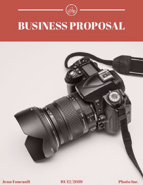 Photography Business Proposal with Camera Forslag