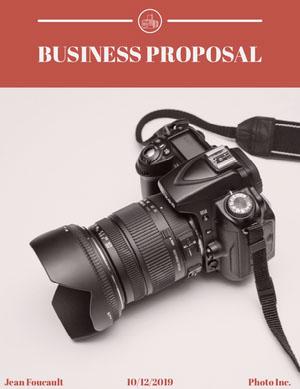 Photography Business Proposal with Camera plan de negocios