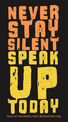 Never<BR>Stay<BR>Silent<BR>Speak <BR>Up <BR>Today Anti-Bullying