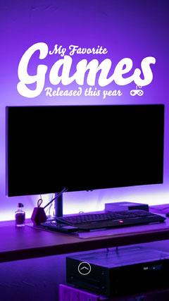 Neon Purple Favorite Games Neon IG Story Purple