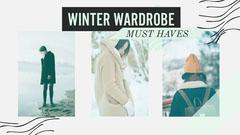 Mint Green & White Winter Wardrobe Collage Youtube Thumbnail Winter
