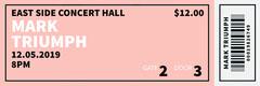 pink frame concert ticket Frame