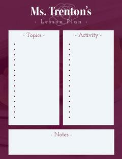 Purple School Lesson Plan Purple