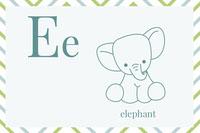 E Flashcard